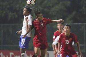 'U16 Việt Nam không thể kiểm soát thế trận trước U16 Ấn Độ'