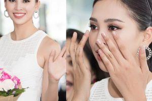 Trần Tiểu Vy khóc khi về Hội An gặp bố mẹ, fan vây kín