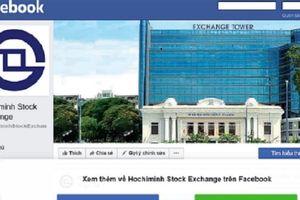 Sở Giao dịch chứng khoán TP.HCM lên Facebook
