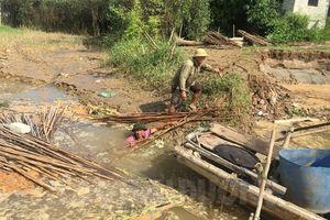 Di dời khẩn cấp các hộ dân bị ảnh hưởng do sạt lở bãi sông ở Hải Dương