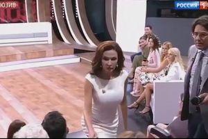 Nữ diễn viên Nga tát khán giả ngay trên sóng truyền hình