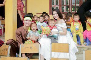 Giải vàng Siêu mẫu Việt Nam 2018 Quỳnh Hoa diện đầm công chúa đi từ thiện và đây là lí do nhân văn phía sau