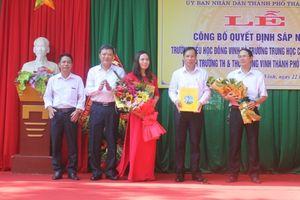 Công bố quyết định sáp nhập trường tiểu học Đông Vinh và trường THCS Đông Vinh