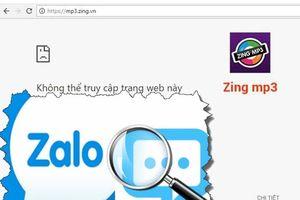 Zalo, Zing MP3 sập vì đâu?
