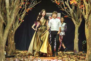 Á hậu Thanh Trang làm vedette trên sàn catwalk ngập lá mùa thu