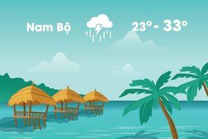 Thời tiết ngày 24/9: Miền Bắc nắng ráo, miền Nam mưa dông
