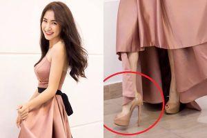 Hòa Minzy 'ăn gian' chiều cao với giày cao 20 cm
