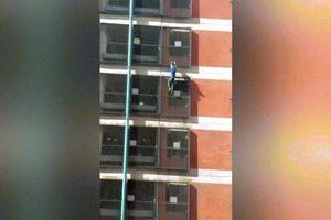 Nữ người nhện tay không leo tòa nhà 8 tầng ở Anh