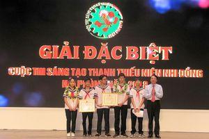 Trường Chu Văn An đạt giải đặt biệt cuộc thi sáng tạo thanh thiếu niên nhi đồng