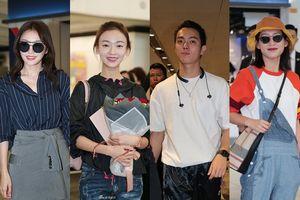 Truyền thông cùng người hâm mộ Hong Kong vây quanh dàn sao 'Diên Hi công lược' tại sân bay