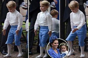 Hoàng tử George nổi bật trong đám cưới bạn thân của Công nương Kate