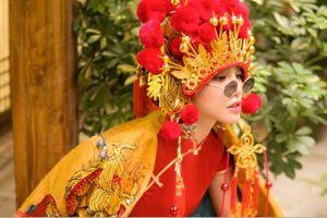 Thiên Nga The Face khiến fan thích thú khi hóa cô dâu Châu Á trước thềm Trung Thu