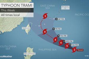 Nhật Bản, Đài Loan nâng cao cảnh giác khi bão Trami tăng cường