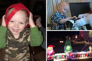 Cả khu phố tổ chức Giáng sinh giữa tháng 9 cho cậu bé chỉ còn sống vài tuần