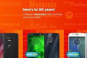 Moto G6, Z2 và các điện thoại khác được giảm giá khi Motorola kỷ niệm sinh nhật lần thứ 90