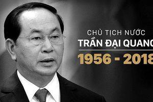 Lào tổ chức quốc tang Chủ tịch nước Trần Đại Quang trong 2 ngày
