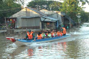 Hơn 5 nghìn học sinh bị ảnh hưởng bởi lũ trên sông Cửu Long