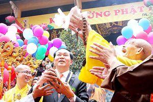 Chủ tịch nước Trần Đại Quang có đóng góp lớn cho khối đoàn kết dân tộc, tôn giáo