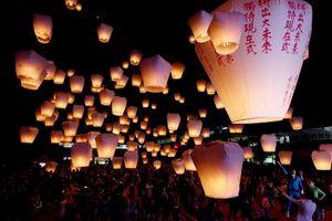 Lung linh đèn trời sáng bừng đêm Trung thu Đài Loan