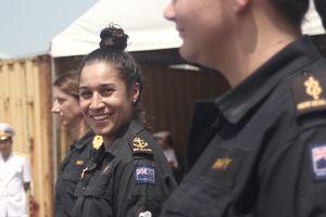 Tàu hải quân New Zealand cập Cảng Sài Gòn, sẽ diễn tập cùng hải quân Việt Nam