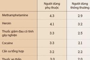 Sáu loại ma túy, chất kích thích hủy hoại cơ thể người nghiện