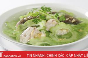 Khổ qua nấu cá trắm - món ăn thanh nhiệt, kích thích vị giác