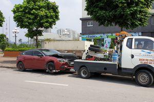 Tài xế không đến giải quyết, sẽ tịch thu Mazda3 náo loạn Cầu Diễn