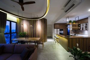 Chiêm ngưỡng căn hộ nhỏ không giống ai nhờ bức tường lượn sóng ở Sài Gòn