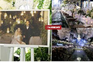 Cận cảnh không gian tiệc cưới đẹp như mơ của Trường Giang - Nhã Phương