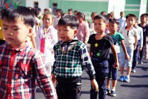 Cận cảnh những khuôn mặt trẻ em Triều Tiên hồn nhiên
