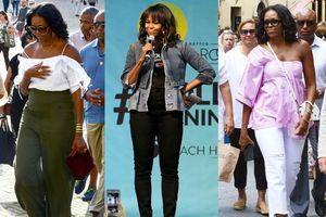 Michelle Obama mặc trẻ trung sau khi rời Nhà Trắng