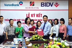 VietinBank ký hợp tác thanh toán 24/7 song phương với BIDV và Agribank