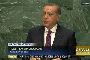 Tổng thống Erdogan thách thức Mỹ ngay tại Liên Hiệp Quốc