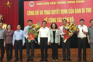 Ban Bí thư Trung ương Đảng bổ nhiệm nhân sự mới