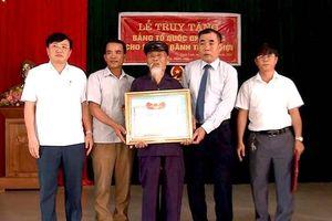 Nam Đàn tổ chức Lễ truy tặng Bằng Tổ quốc ghi công cho liệt sỹ