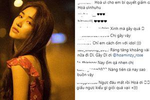 Đăng ảnh đẹp khoe dáng về 41kg, Hòa Minzy khiến fans xót xa vì xinh nhưng 'gầy đến thảm thương'