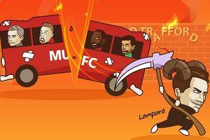 Biếm họa 24h: Derby đánh sập Old Trafford, MU chìm trong khủng hoảng