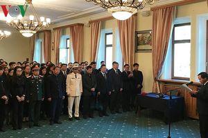 Xúc động Lễ viếng Chủ tịch nước Trần Đại Quang tại LB Nga
