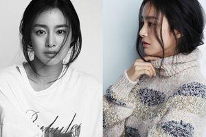Mặc quần jean, áo thun, Kim Tae Hee vẫn tỏa sáng trên tạp chí