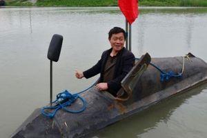 Trung Quốc xuất hiện tàu ngầm mini tự chế kiểu Việt Nam