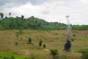 Điện Biên:Tổ chức thành công diễn tập Cụm tác chiến Biên phòng số 5