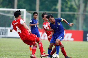 U.16 Thái Lan và Malaysia bất ngờ bị loại ngay vòng bảng giải châu Á