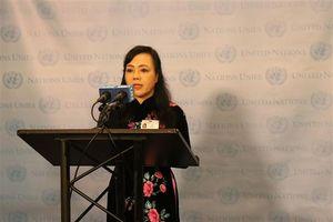 Bộ trưởng Nguyễn Thị Kim Tiến cam kết trước Đại hội đồng LHQ xóa bỏ bệnh lao vào năm 2030