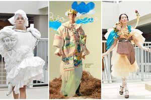 Khi sinh viên ĐH Văn Lang khoe tài thiết kế thời trang, người xem cứ nghĩ đang dự show diễn nghệ thuật 'chất phát ngất'