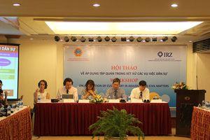TANDTC tổ chức hội thảo về tập quán pháp