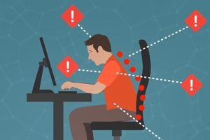 Tác hại khôn lường khi ngồi làm việc sai tư thế