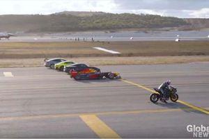 CHOÁNG: Kawasaki Ninja H2R cho mô tô F1 và chiến đấu cơ F-16 'hít khói'