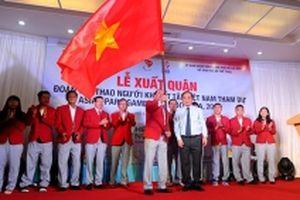 Đoàn thể thao người khuyết tật Việt Nam xuất quân dự Asian Para Games 3