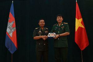 20 sĩ quan trẻ Campuchia tới Việt Nam hội đàm