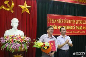 Quỳnh Lưu: Bổ nhiệm Chánh văn phòng HĐND-UBND huyện